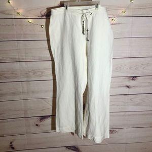 🕶LANE BRYANT WHITE LINEN PANTS